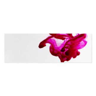 Pink Ink Drop Macro Photography Business Cards