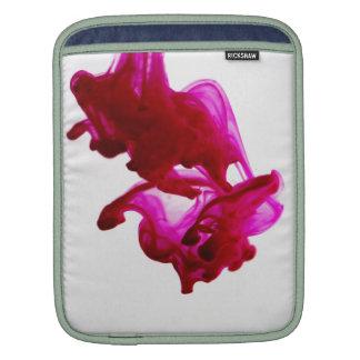 Pink Ink Drop Macro Photography iPad Sleeves