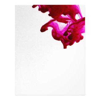 Pink Ink Drop Macro Photography Customized Letterhead