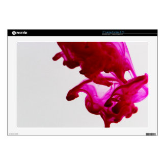 """Pink Ink Drop Macro Photography Decals For 17"""" Laptops"""