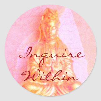 Pink Inquire Within sticker