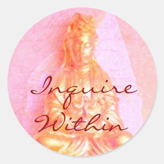 Pink Inquire Within sticker