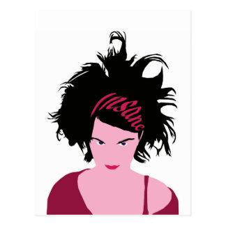Pink Insane Girl Postcard