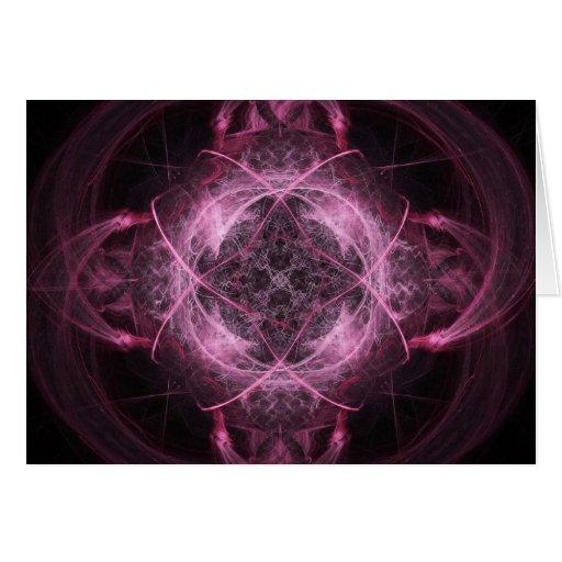 Pink Insanity Fractal Greeting Card