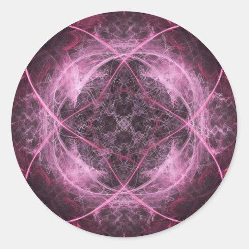 Pink Insanity Fractal Sticker