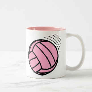 Pink-Inside Volleyball Pink Game Mug