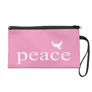 Pink Inspirational Peace Quote Wristlets