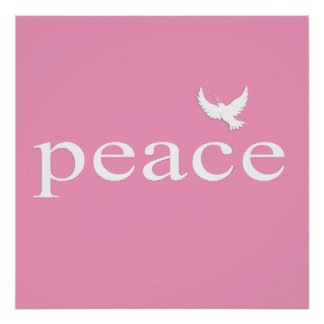 Pink Inspirational Peace Quote Poster