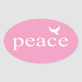 Pink Inspirational Peace Quote Sticker