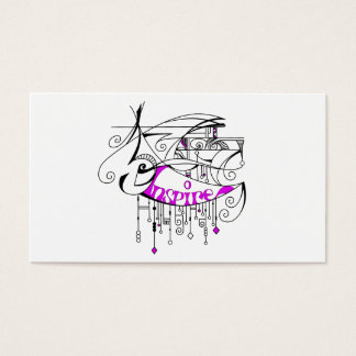 Pink Inspire In Lines and Dangles Business Card