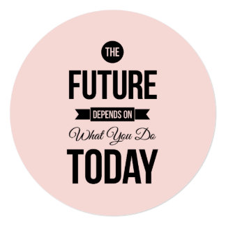 Pink Inspiring Quote The Future Custom Announcements