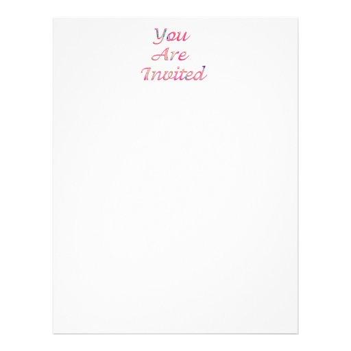 Pink Invitation Flyer