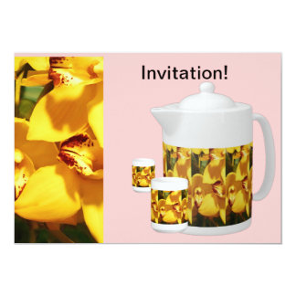 PINK INVITATION TO TEA/COFFEE-FRIENDS & NEIGHBORS