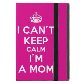 """Pink iPad Mini Case """"I Cant Keep Calm I'm a Mom"""""""
