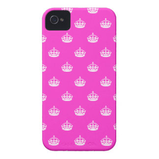 Pink iPhone 4 cover with Keep Calm crown pattern