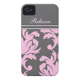Pink iPhone 4 Monogram Cases Case-Mate iPhone 4 Cases