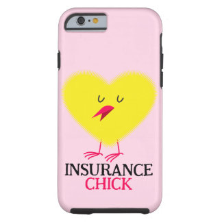 Pink iPhone 6/6s case with Insurance Chick graphic