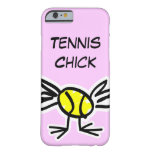 Pink iPhone 6 case with tennis design