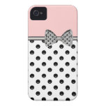 Pink iPhone Case With Printed Bow iPhone 4 Case