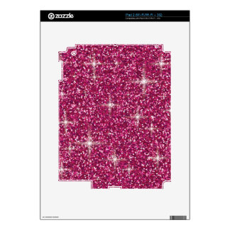 Pink iridescent glitter iPad 2 skins