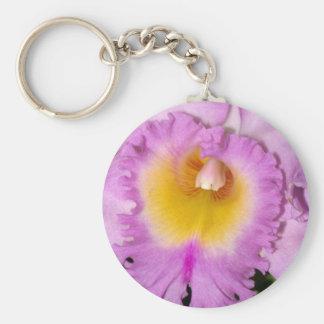 Pink Iris Floral Keychain