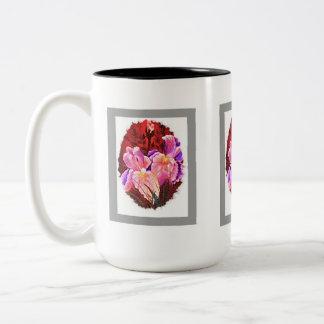 """""""Pink Iris Flower Mug"""" Two-Tone Coffee Mug"""