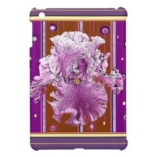 Pink Iris Puce Purple Pattern gifts Cover For The iPad Mini