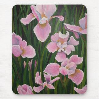 Pink Irises Mouse Pad