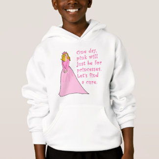 Pink is for Princesses Breast Cancer Products Hoodie