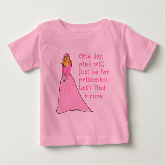 Pink is for Princesses Breast Cancer Products Infant T-shirt