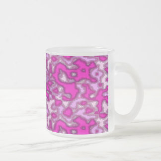 pink is not a color its an attitude frosted glass coffee mug