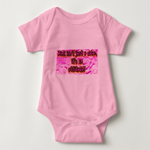 pink is not just a color its an attitude baby bodysuit