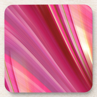 Pink is really beuatiful by Christine Bässler Beverage Coaster