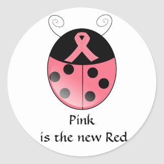 Pink is the new red, Ladybug Classic Round Sticker