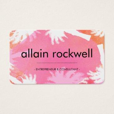 Beach Themed Pink Island Business Card