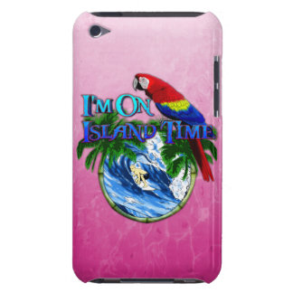 Pink Island Time Surfing iPod Touch Case