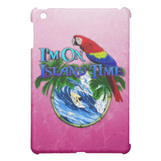 Pink Island Time Surfing Cover For The iPad Mini