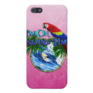 Pink Island Time Surfing iPhone SE/5/5s Case