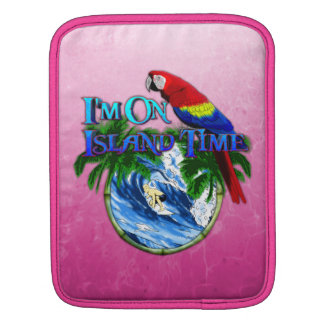 Pink Island Time Surfing Sleeve For iPads