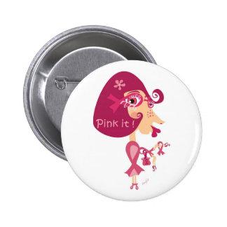Pink it Pink Ribbon Button