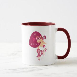 Pink it Pink Ribbon Mug