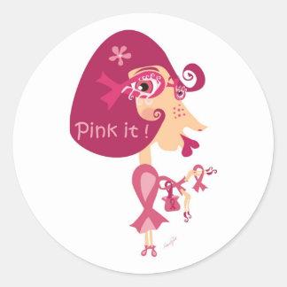 Pink it Pink Ribbon Stickers