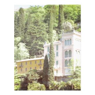 Pink Italian Hillside Villa Letterhead