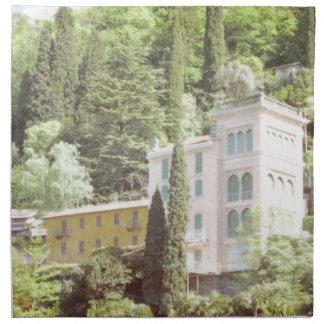 Pink Italian Hillside Villa Printed Napkins