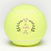 Pink It's A Girl Tennis Rackets Baby Gift Tennis Balls