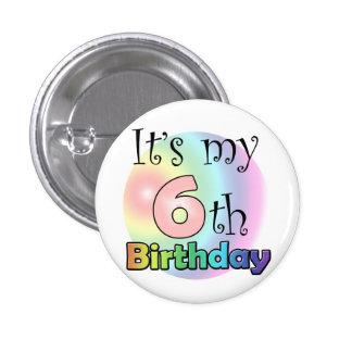 Pink It's my 6th Birthday Pins