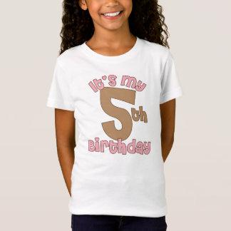 Pink It's My Fifth Birthday T-Shirt