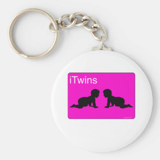 pink iTwins Keychain