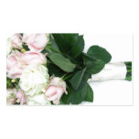 Pink Ivory Roses Wedding Bouquet Business Card