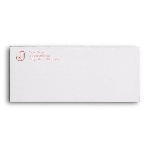 Pink J Monogram Envelope